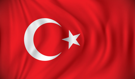 turkish flag: Flag of Turkey - vector illustration