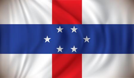 antilles: Flag of Netherlands Antilles - vector illustration