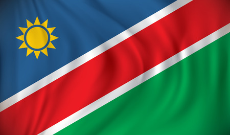 namibia: Flag of Namibia - vector illustration