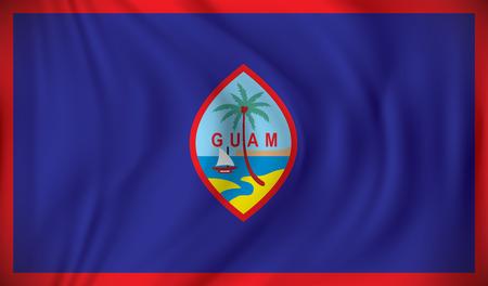 guam: Flag of Guam - vector illustration