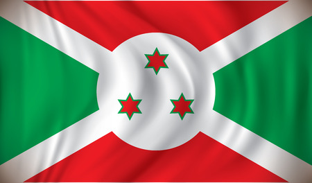 bujumbura: Flag of Burundi - vector illustration Illustration