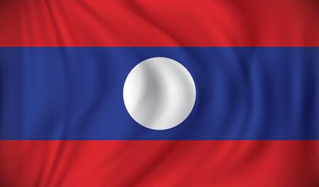 laos: Flag of Laos - vector illustration