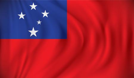 samoa: Flag of Samoa - vector illustration Illustration