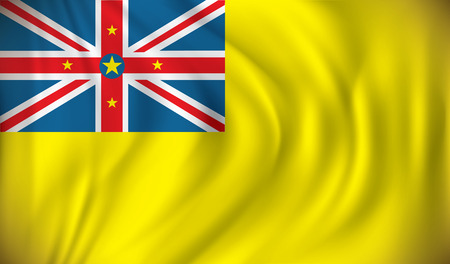 niue: Flag of Niue - vector illustration