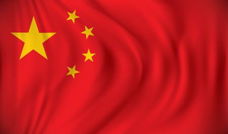 Bandera de China - ilustración vectorial