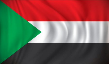 Sudan: Flag of Sudan - vector illustration
