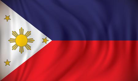 filipino: Flag of Philippines - vector illustration