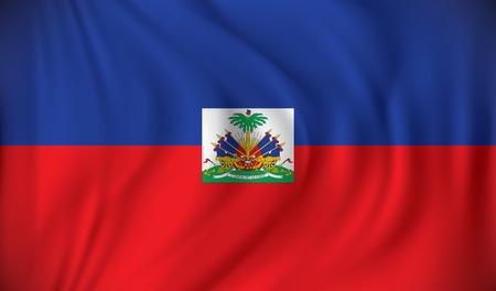 white flag: Flag of Haiti - vector illustration