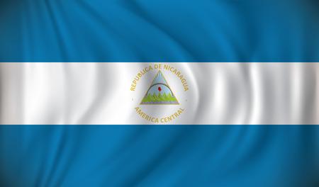toltec: Flag of Nicaragua - vector illustration Illustration