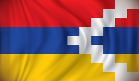 mountainous: Flag of Nagorno-Karabakh Republic - vector illustration Illustration