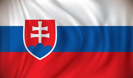 slovakian: Flag of Slovakia - vector illustration
