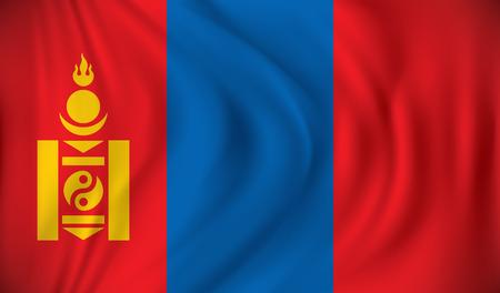 mongolia: Flag of Mongolia - vector illustration Illustration