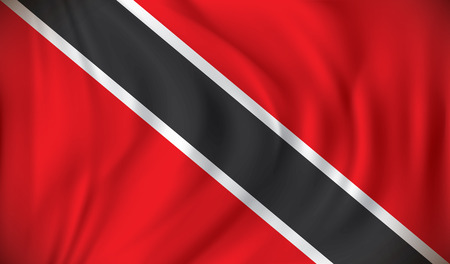 trinidad and tobago: Flag of Trinidad and Tobago - vector illustration