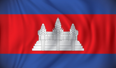 cambodian flag: Flag of Cambodia - vector illustration