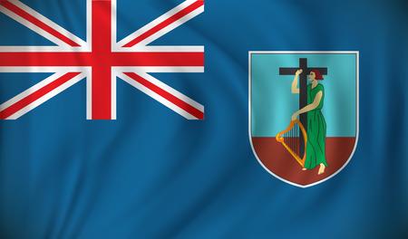 montserrat: Flag of Montserrat - vector illustration