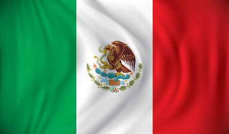 white flag: Flag of Mexico - vector illustration