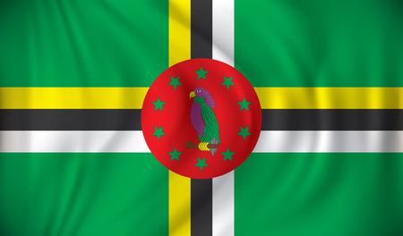 dominica: Flag of Dominica - vector illustration Illustration