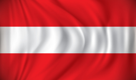 austria: Flag of Austria - vector illustration