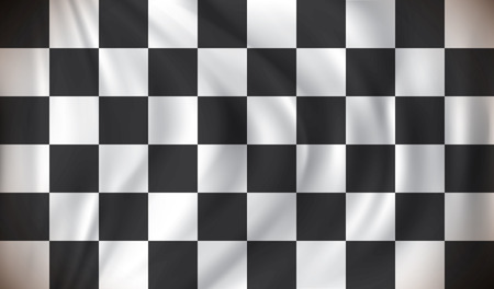 racing checkered flag crossed: Checkered Race Flag - vector illustration Illustration