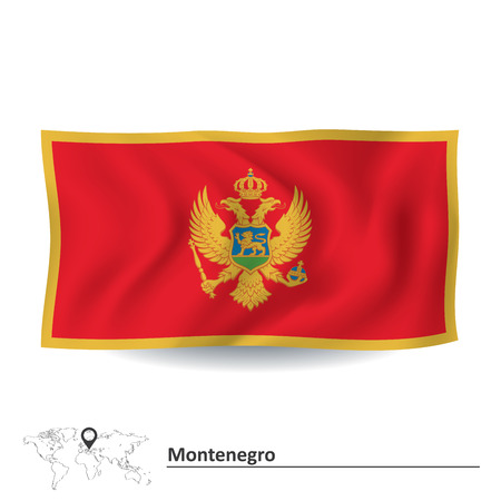 montenegro: Flag of Montenegro illustration