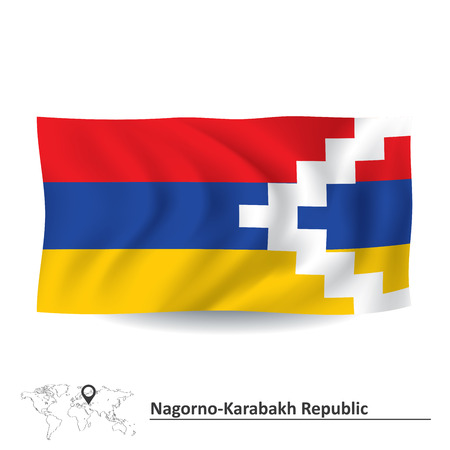 mountainous: Flag of Nagorno-Karabakh Republic illustration Illustration
