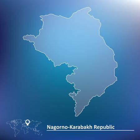 mountainous: Map of Nagorno-Karabakh Republic illustration Illustration