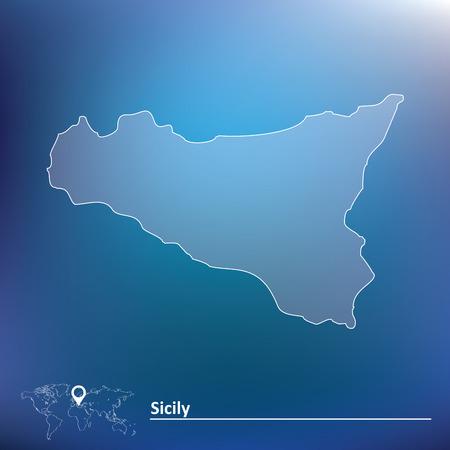 southern: Map of Sicily illustration Illustration