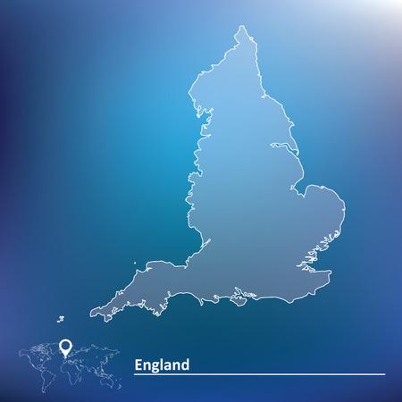 britan: Map of England illustration