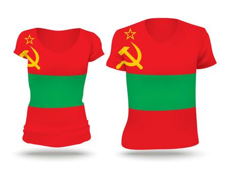 shirt design: Flag shirt design of Transnistria Illustration