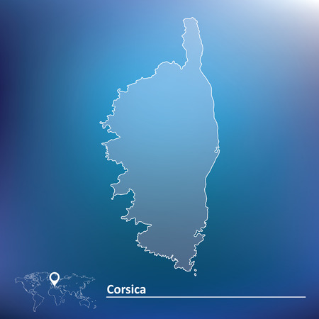 corsica: Map of Corsica illustration Illustration