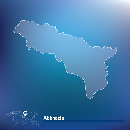 sukhumi: Map of Abkhazia illustration