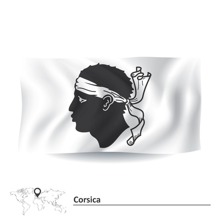 ajaccio: Flag of Corsica illustration