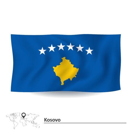kosovo: Flag of Kosovo illustration Illustration