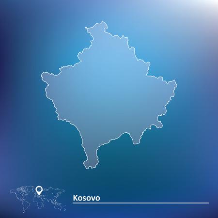 pentacle: Map of Kosovo illustration Illustration
