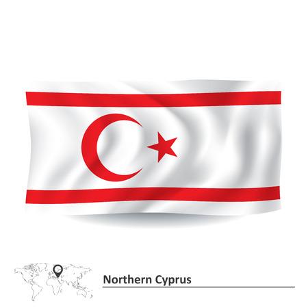 northern: Flag of Northern Cyprus illustration