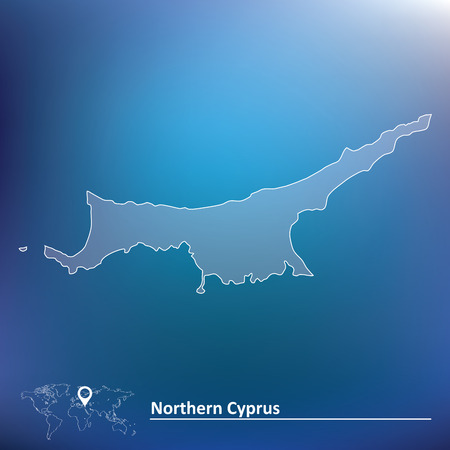 cyprus: Map of Northern Cyprus illustration