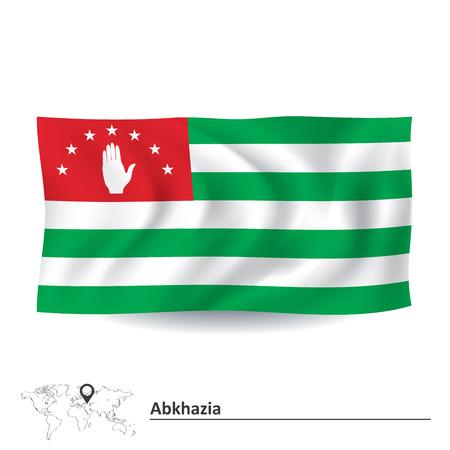 sukhumi: Flag of Abkhazia illustration Illustration