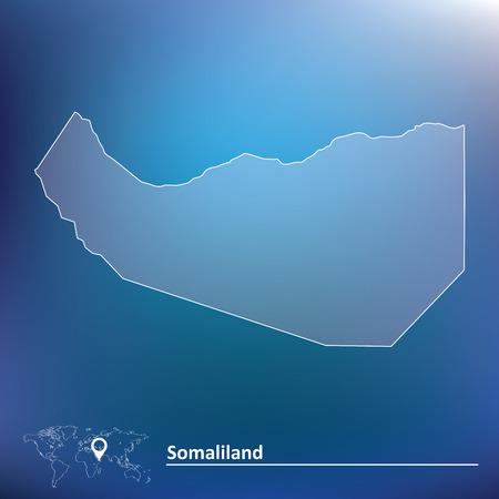 somaliland: Map of Somaliland illustration