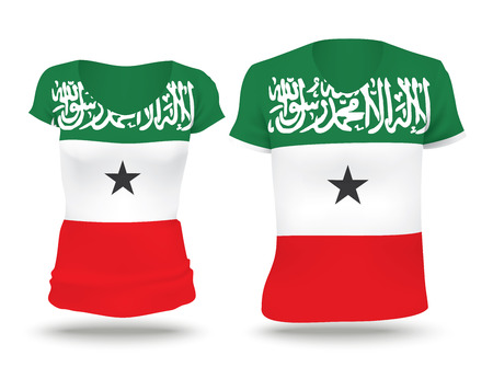 somaliland: Flag shirt design of Somaliland illustration