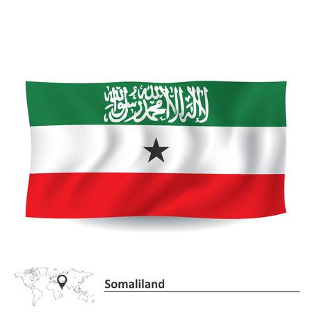 somaliland: Flag of Somaliland illustration
