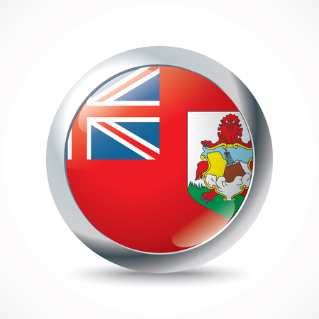 bermuda: Bermuda flag button - vector illustration Illustration