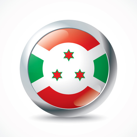 burundi: Burundi flag button - vector illustration