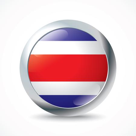 costa: Costa Rica flag button - vector illustration