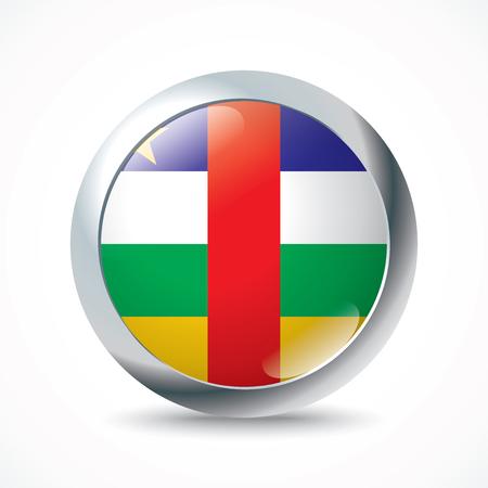 central african republic: Central African Republic flag button - vector illustration Illustration