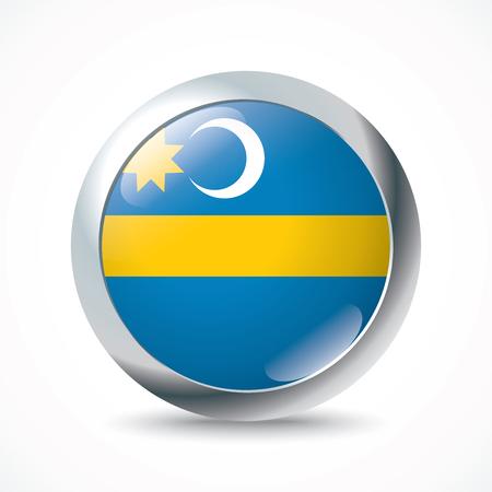 flag button: Szeklerland flag button - vector illustration