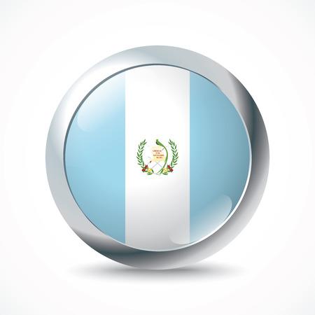 bandera de guatemala: Botón de la bandera de Guatemala - ilustración vectorial