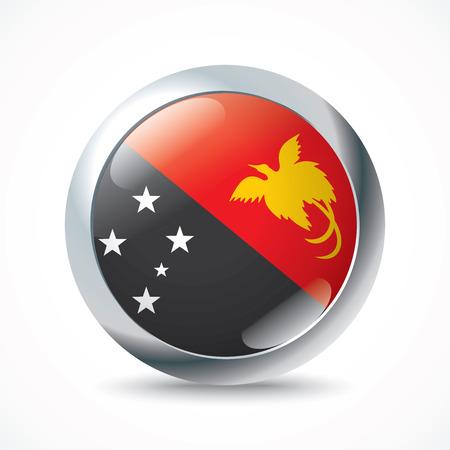 papouasie: Papouasie-Nouvelle-Guin�e bouton drapeau - illustration vectorielle