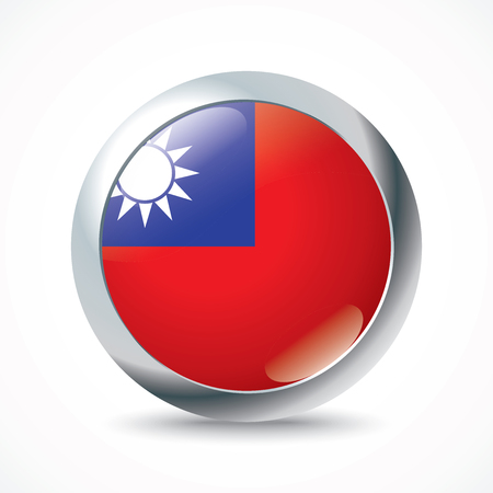 Taiwan bouton drapeau - illustration vectorielle