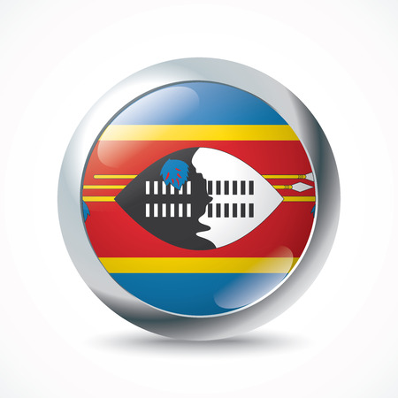 swaziland: Swaziland flag button - vector illustration Illustration