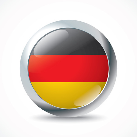 germany flag: Germany flag button - vector illustration